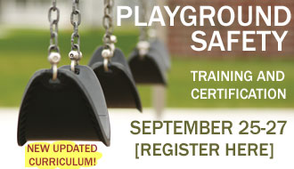 National Playground Safety Institute, hosted by the Kentucky Recreation and Park Society is September 25-27 in Fort Thomas, KY.