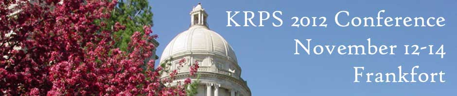 The Kentucky Recreation and Park Society Annual Educational Conference and Trade Show is November 12-14, 2012 in Frankfort at the Capital Plaza Hotel